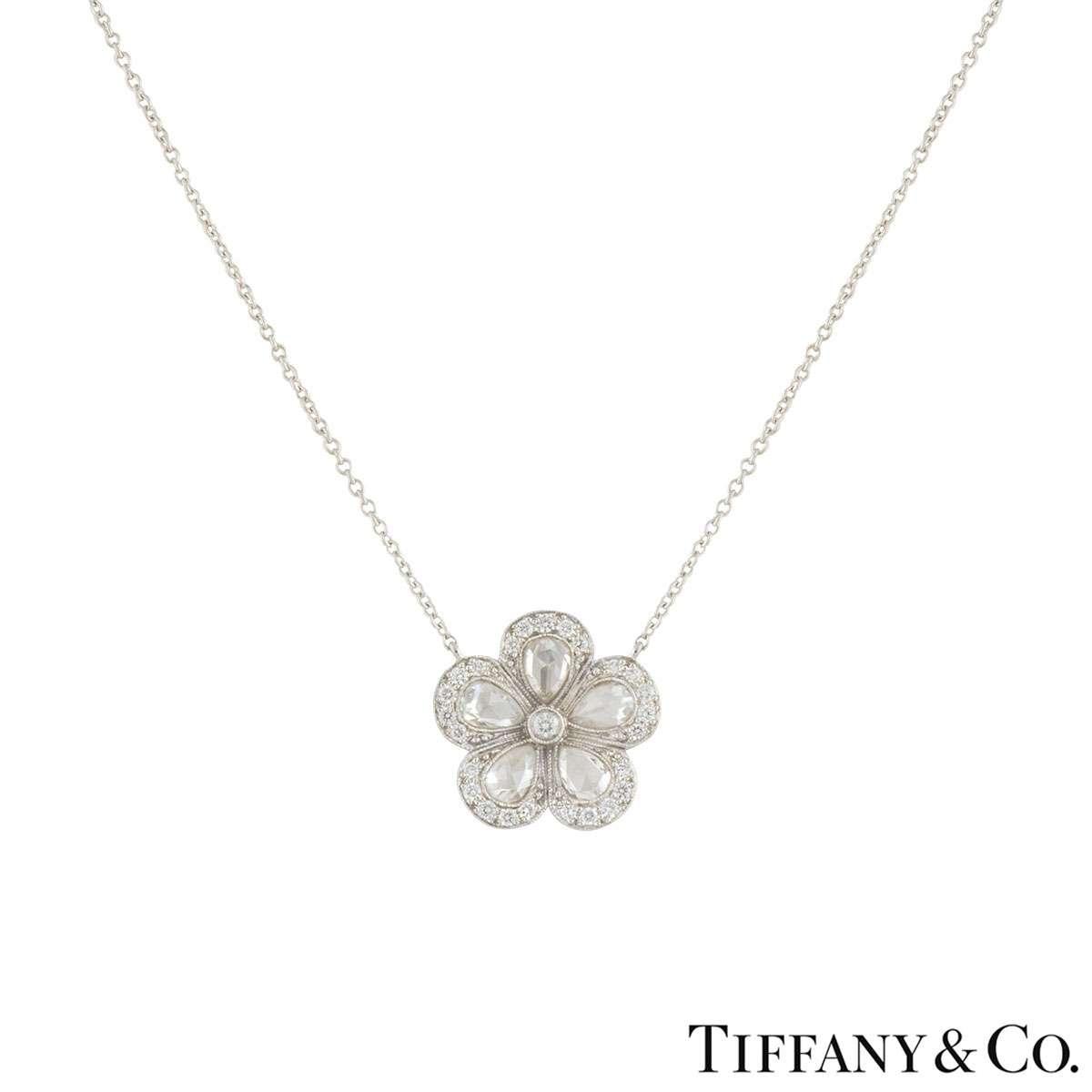 Tiffany & Co. Garden Flower Necklace 1.86ct G+/VS+